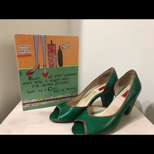 Miz Mooz Emerald Peep Toe Pump